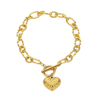 Goldtone & Turquoise Peacock Feather Pendant Necklace