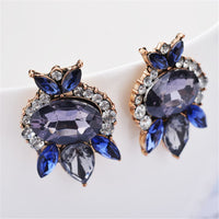 Cubic Zirconia & 18k Rose Gold-Plated Floral Drop Earrings - streetregion