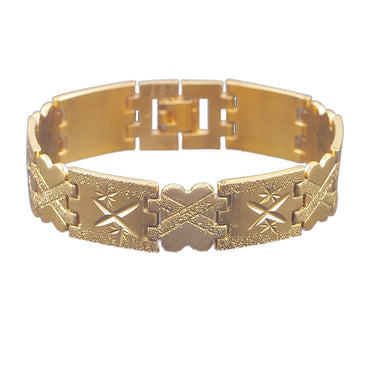 18k Gold-Plated Star-Cut X Bracelet