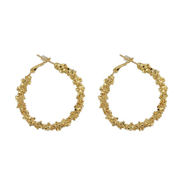 18k Gold-Plated Twisted Hoop Earrings - streetregion