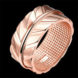 18k Rose Gold-Plated Leaf Ring - streetregion