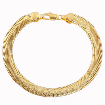 18k Gold-Plated Snake Chain Bracelet