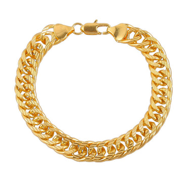 18k Gold-Plated Cuban Chain Bracelet