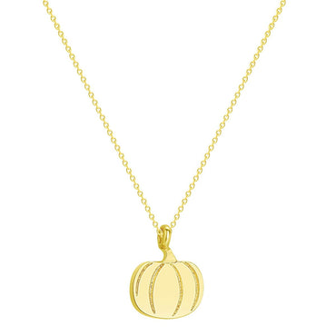 18k Gold-Plated Pumpkin Pendant Necklace - streetregion