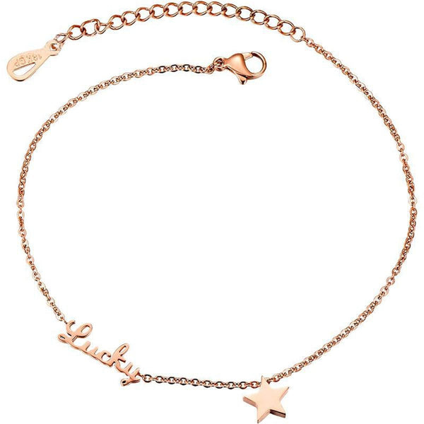 18k Rose Gold-Plated 'Lucky' Star Anklet