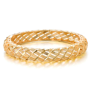 18k Gold-Plated Hollow Weaving Bangle