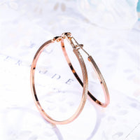 18K Rose Gold-Plated Textured Hoop Earrings - streetregion