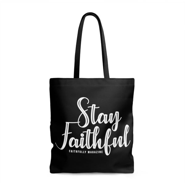 Stay Faithful Logo Tote Bag
