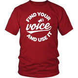 Bundle: 'Find Your Voice and Use It' Tee & Faithfully Magazine 4 Digital Download