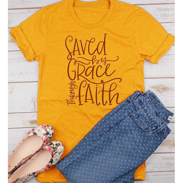 Saved By Grace Through Faith T-Shirt