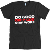 """Obey God"" Christian T-Shirt With Bold Lettering in Black"
