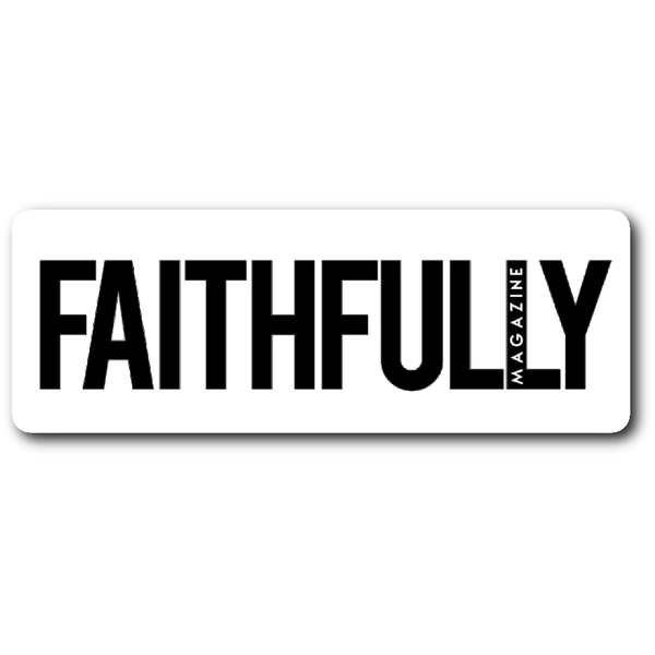 Faithfully Magazine Logo Sticker