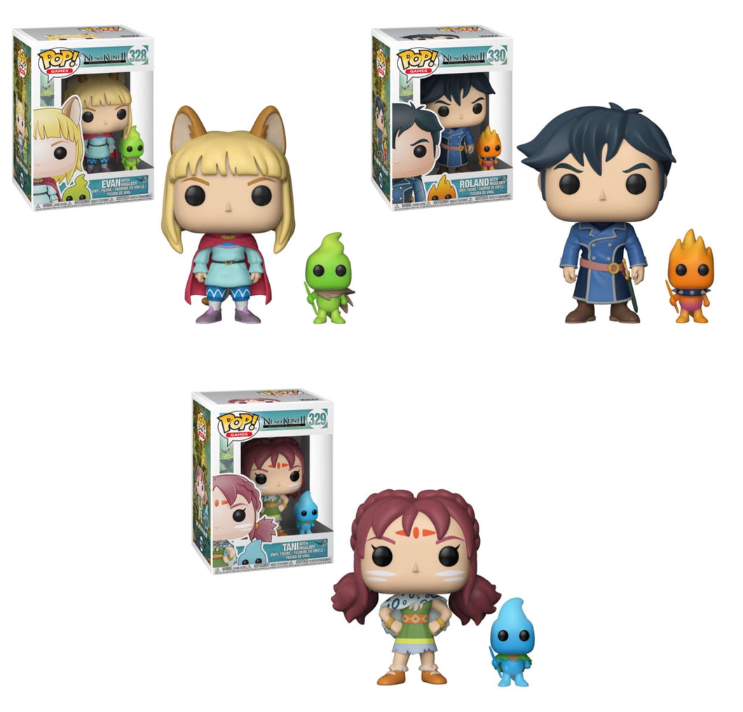 Complete Set of 3 - Ni No Kuni 2 - Funko Pop Vinyl - FEBRUARY