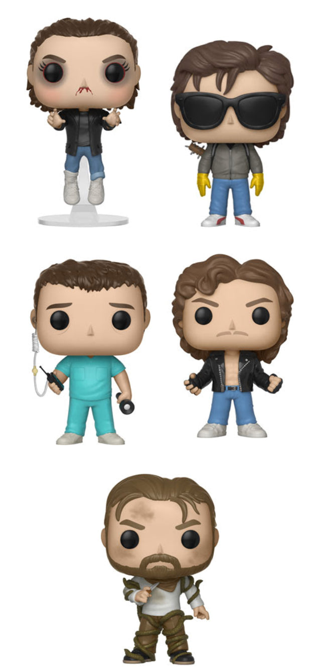 Complete Set of 5 - Stranger Things Wave 4 - Funko Pop Vinyl Figure - 2018