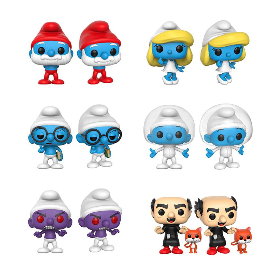 Complete Set of 6 - The Smurfs - Funko Pop Vinyl