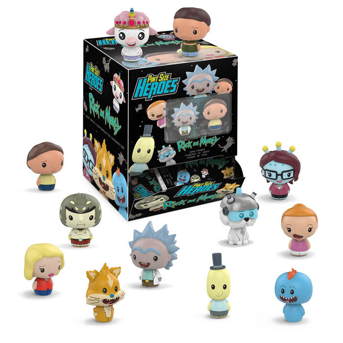 Set of 12 - Rick and Morty - Funko Pint Sized Heroes - DECEMBER