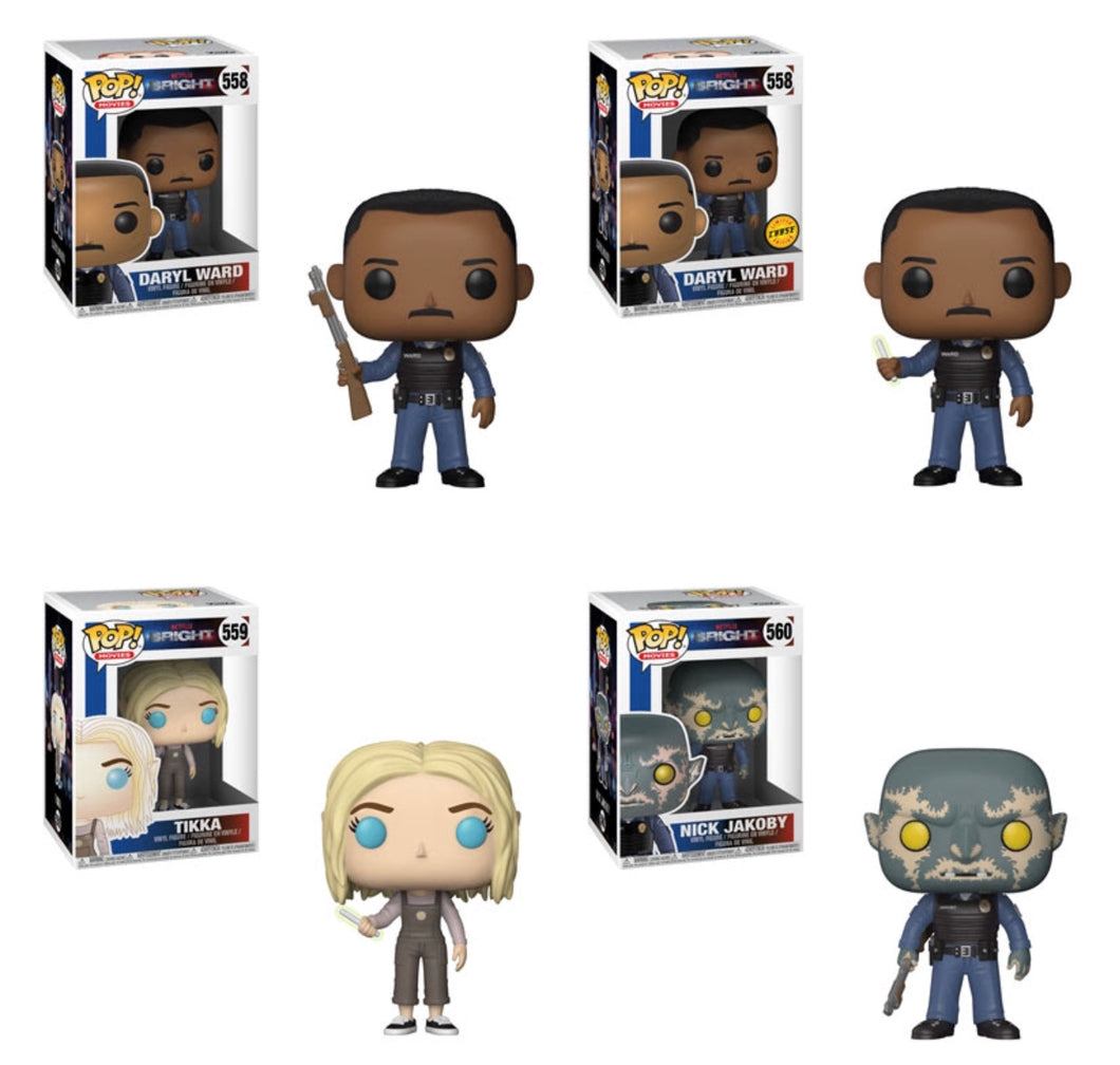 Complete Set of 4 - Bright - Funko Pop Vinyl - FEBRUARY