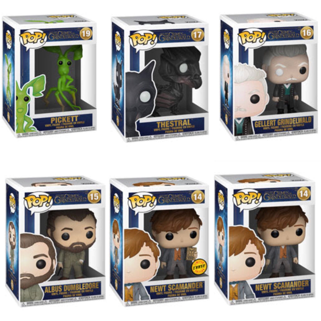 Set of 6 - Fantastic Beasts 2 - Funko Pop Vinyl - SEPTEMBER