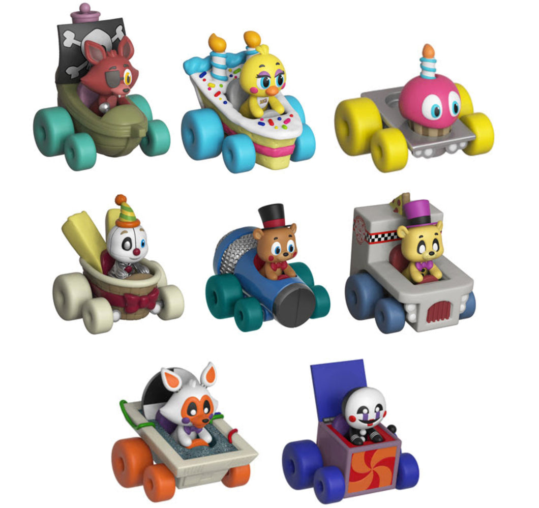 Complete Set of 8 - Five Nights at Freddys - Funko Super Racers - 2018