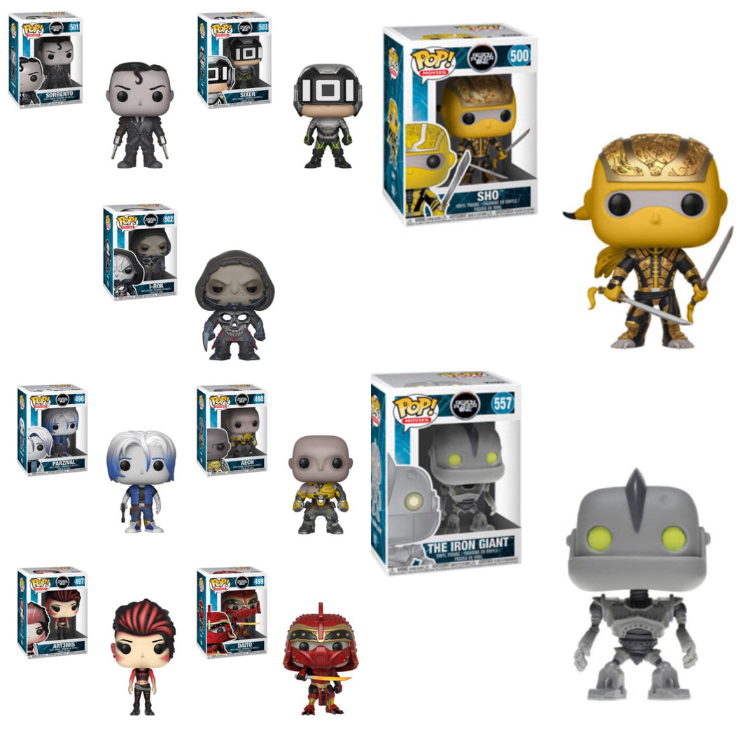 Complete Set of 9 - Ready Player One - Funko Pop Vinyl Figures - MARCH