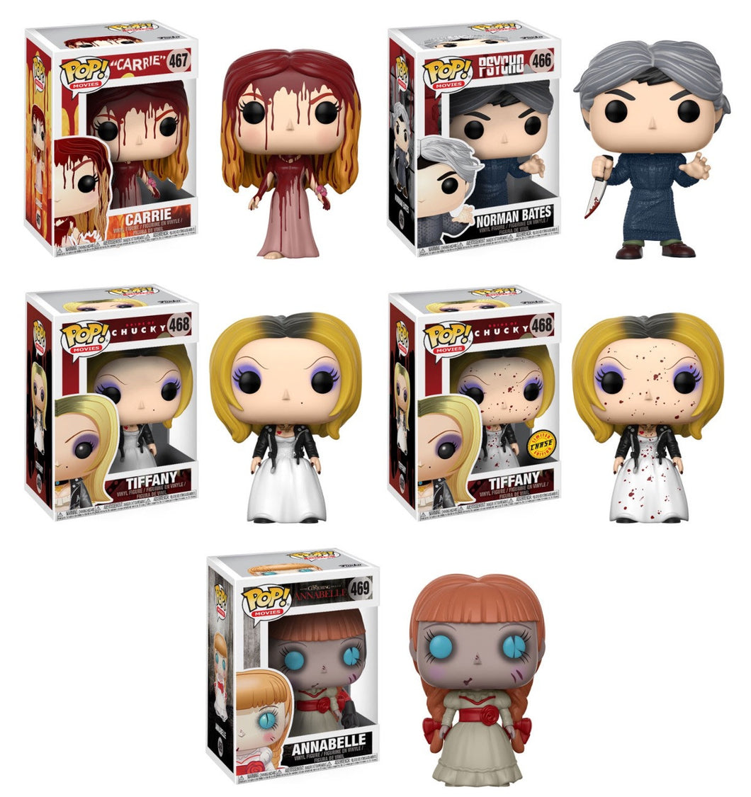 Complete Set of 5 - Funko Pop! Movies Series 4 Horror Figures