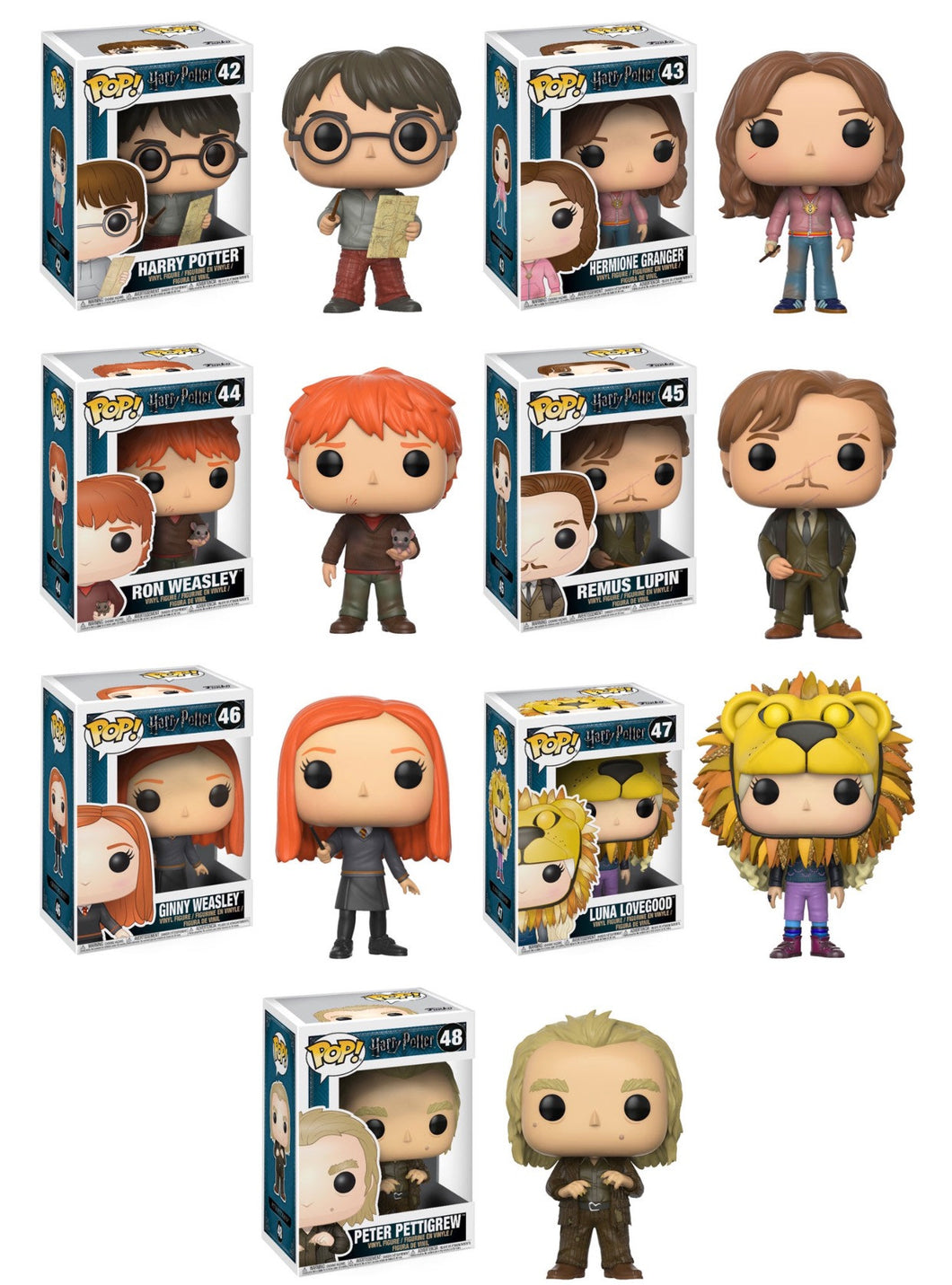 Complete Set of 7  - Harry Potter - Funko Pop Vinyl Figure