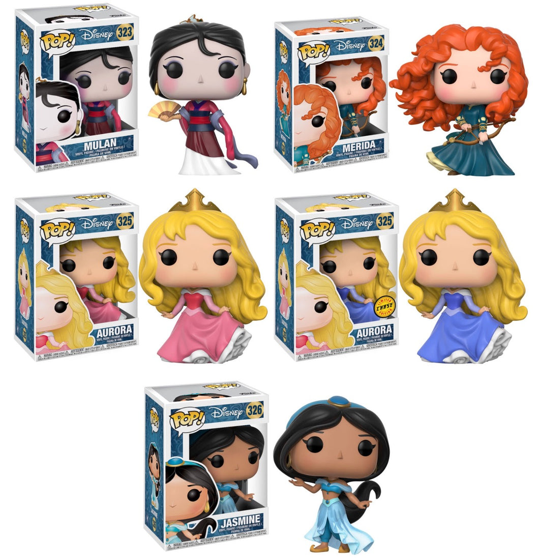 Complete Set of 5 - Disney Princess Funko Pop Vinyl Figure SEPTEMBER