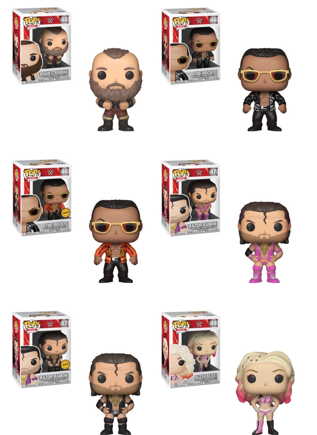 Complete Set of 6 - WWE Series 6 - Funko Pop Vinyl Figure - DECEMBER