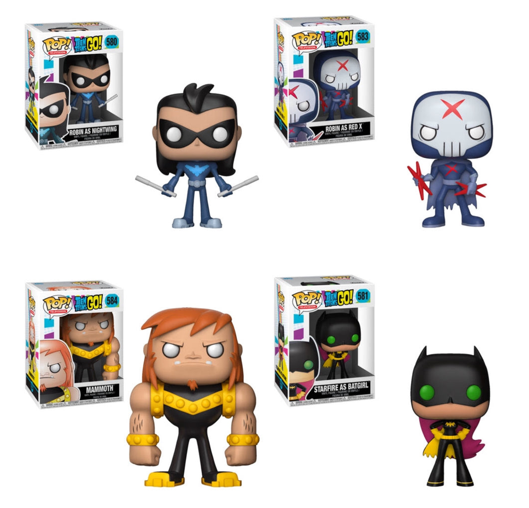 Set of 4 - Teen Titans Go Series 3 - Funko Pop Vinyl Figure - JANUARY