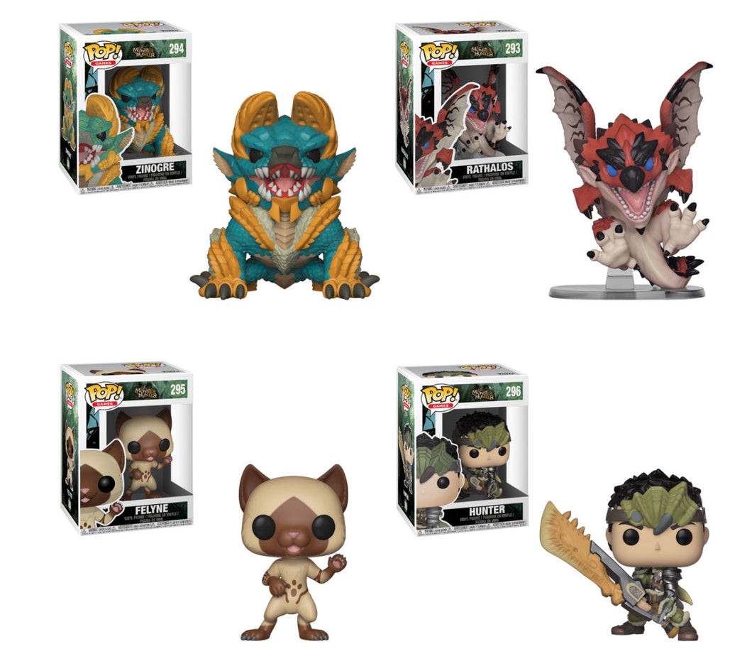Complete Set of 4 - Monster Hunter - Funko Pop Vinyl - FEBRUARY