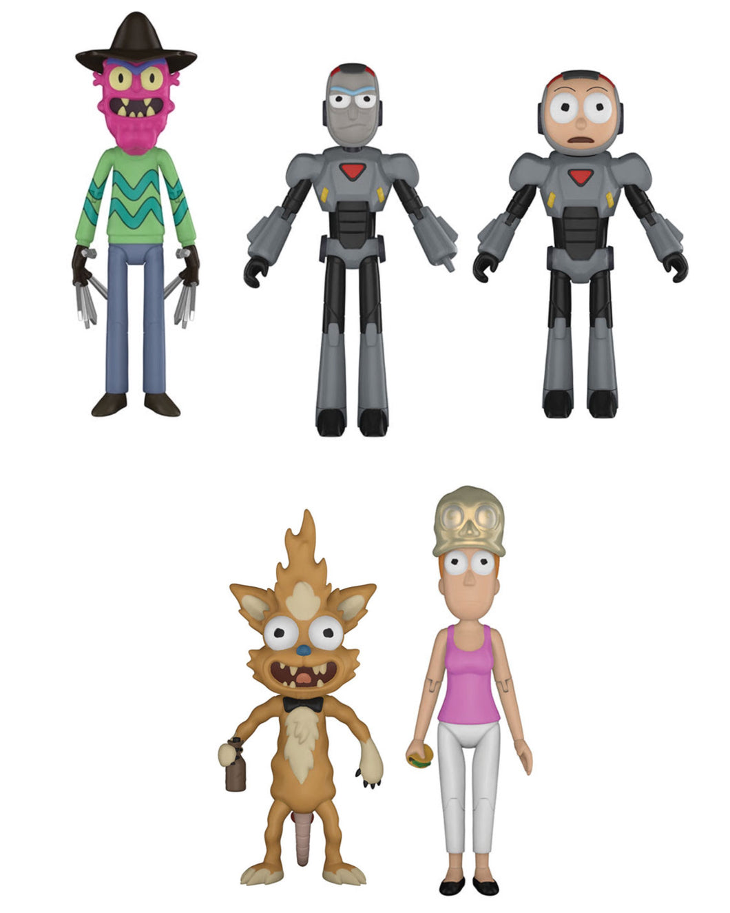 Complete Set of 5 - Rick & Morty Funko Action Figures