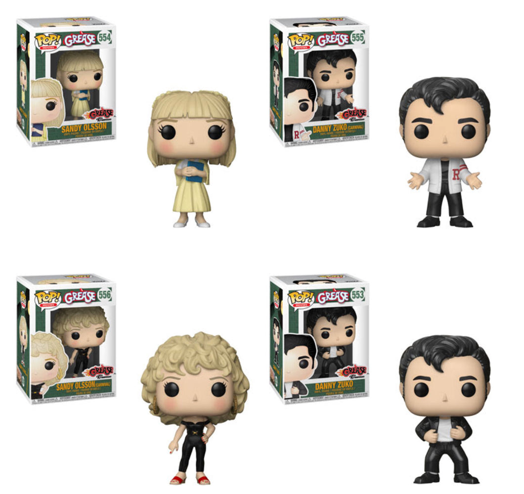 Complete Set of 4  - Grease - Funko Pop Vinyl Figures - APRIL