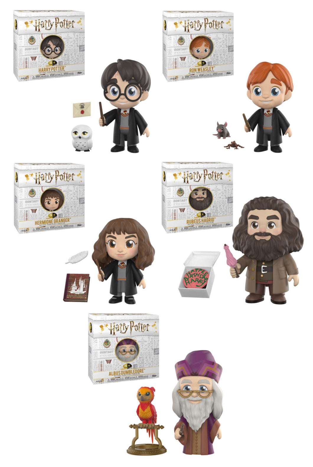 Bundle of 5 - Harry Potter - Funko 5 Star - JULY