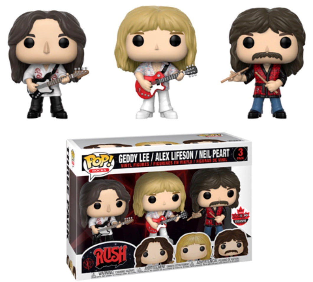 Rush 3 Pack - Canada Fan Expo Exclusive Funko Pop Vinyl - SEPTEMBER