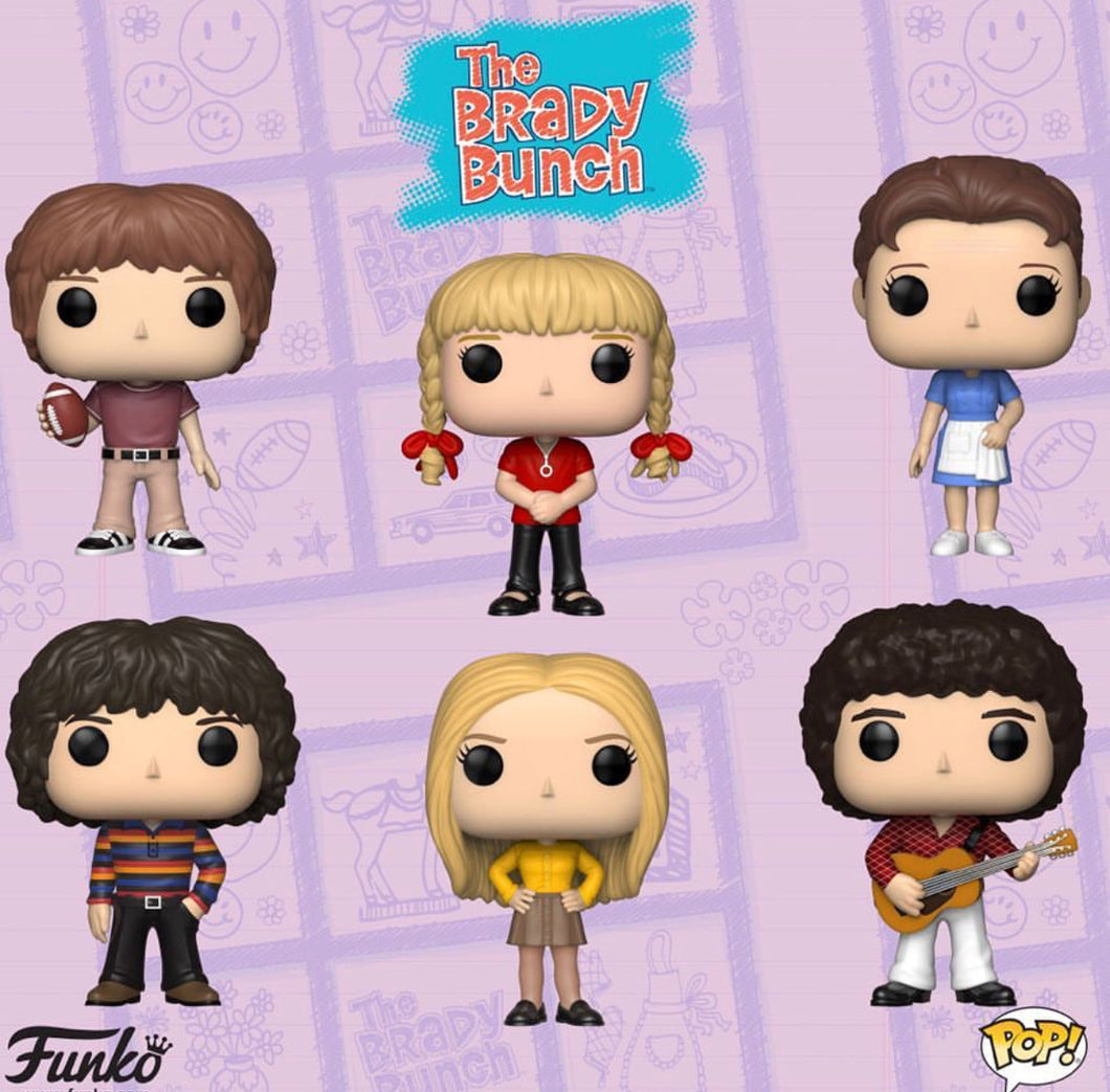 Complete Set of 6 - The Brady Bunch - Funko Pop! Vinyl Figure - OCTOBER