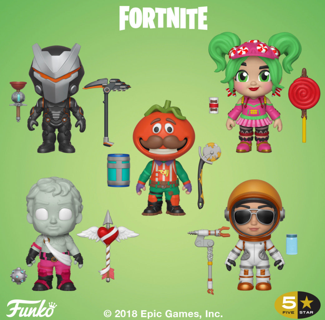 Complete Set of 5 - Fortnite - Funko 5 Star Vinyl Figures - DECEMBER