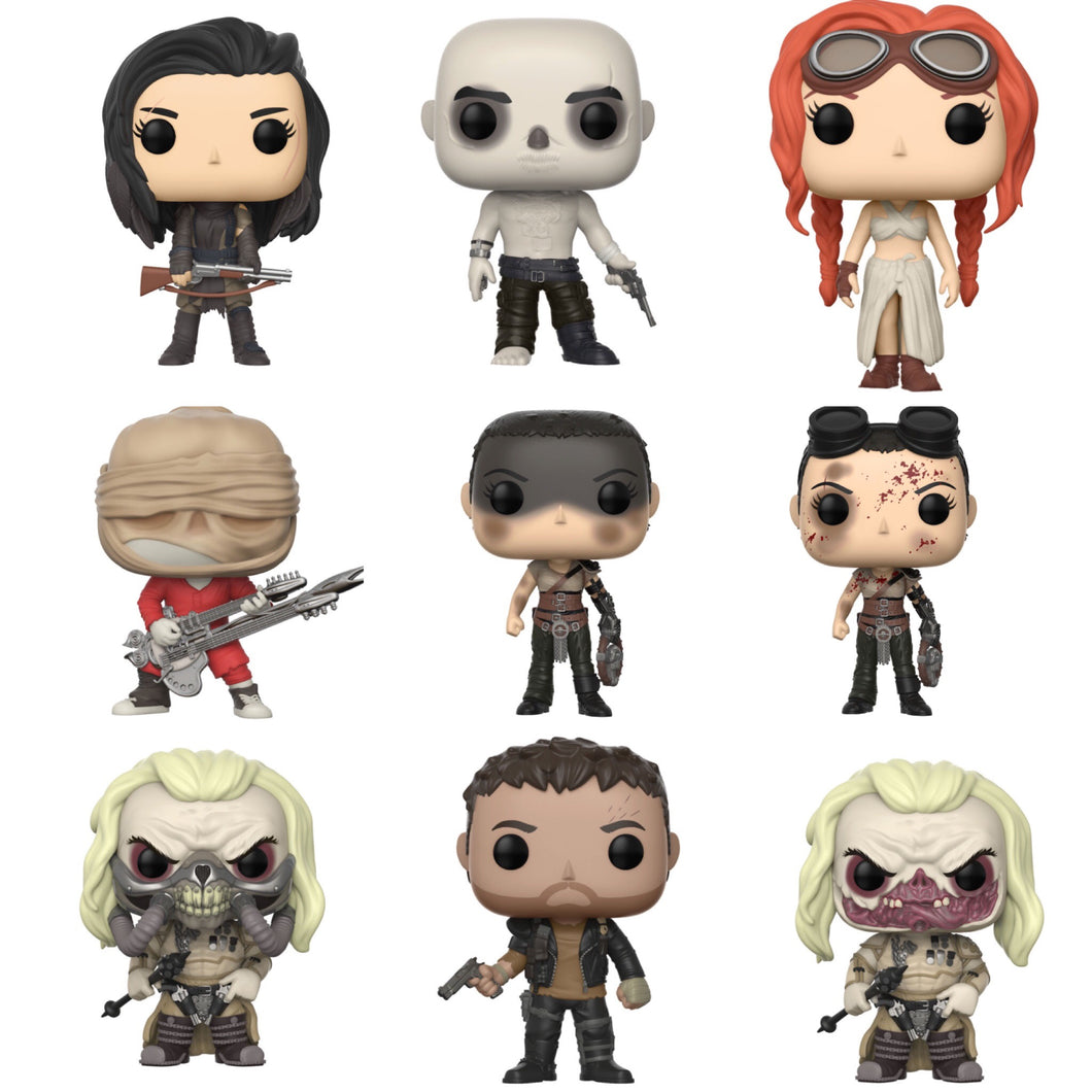 Complete Set of 9 - Mad Max Fury Road - Funko Pop Vinyl Figures - NOVEMBER