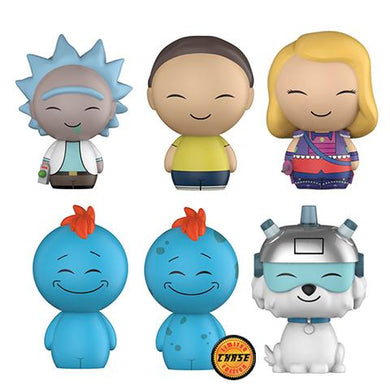 Complete Set of 6 including Chase - Rick and Morty - Funko Dorbz - MAY