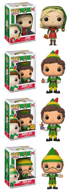 Complete Set of 4 - Buddy the Elf - Funko Pop Vinyl Figures - OCTOBER