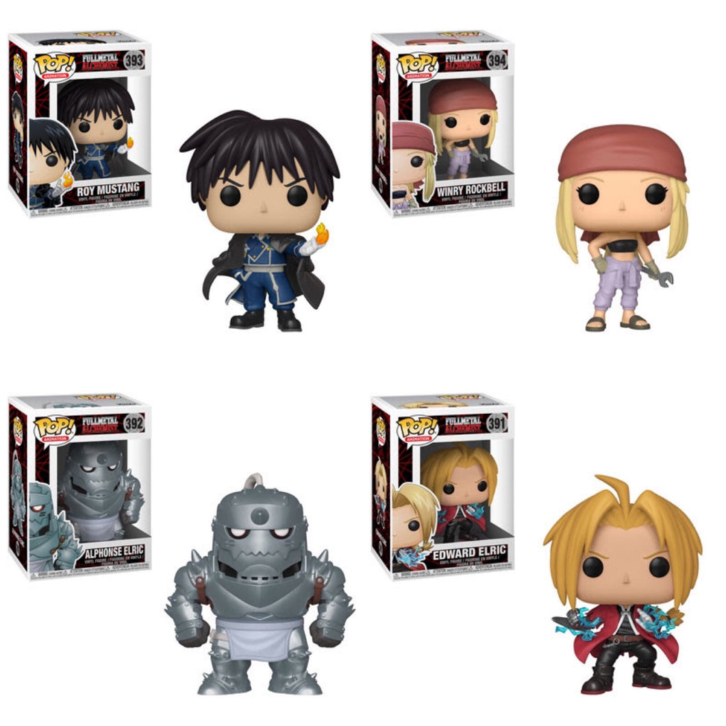 Set/Bundle of 4 - Fullmetal Alchemist - Funko Pop! Vinyl Figure - DECEMBER