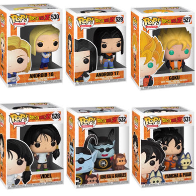 Set of 6 - Dragon Ball Z - Funko Pop! Vinyl Figure - JANUARY