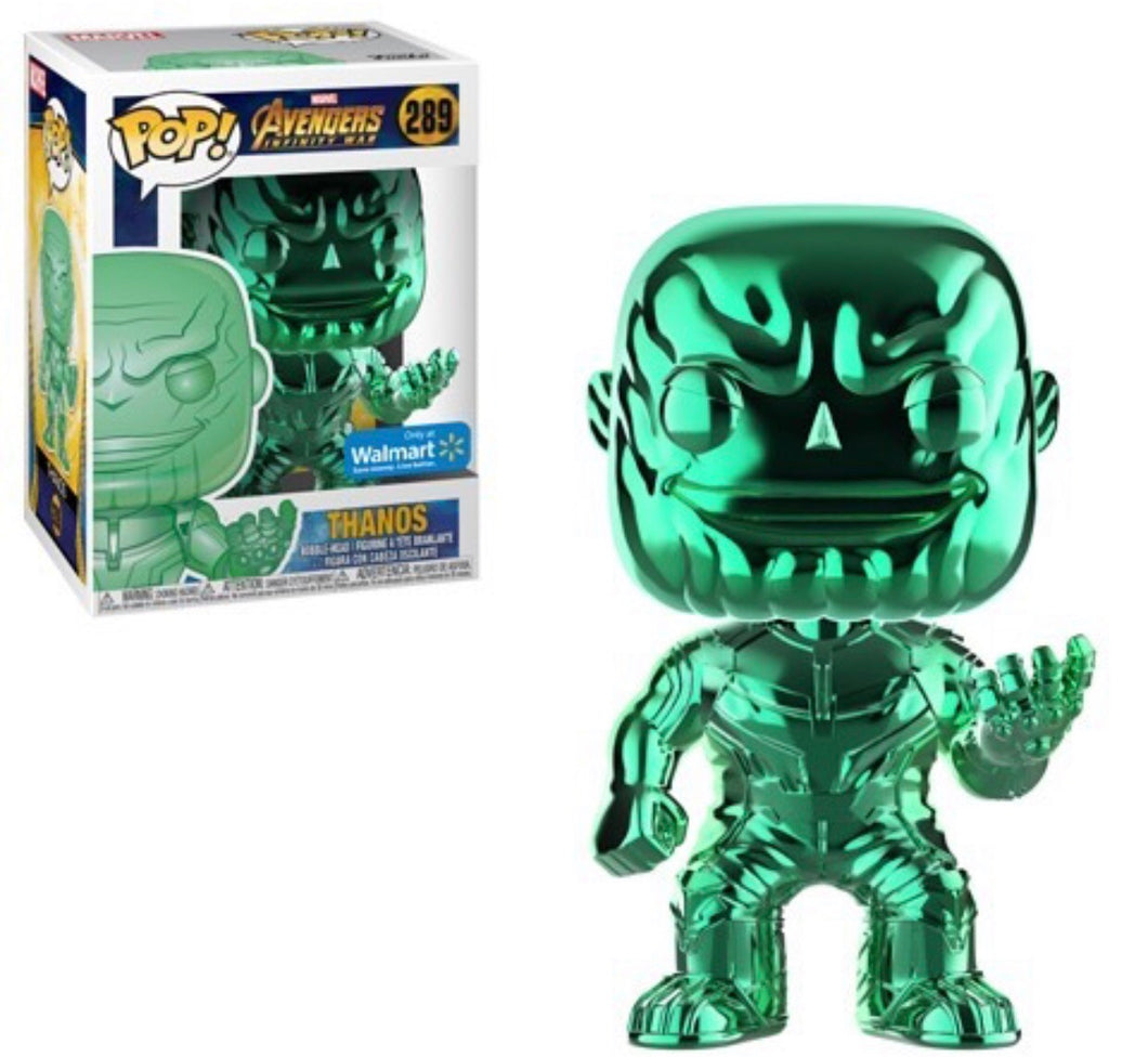 Chrome Thanos (Green) - Wal-Mart Exclusive - Funko Pop! Vinyl Figure - NOVEMBER