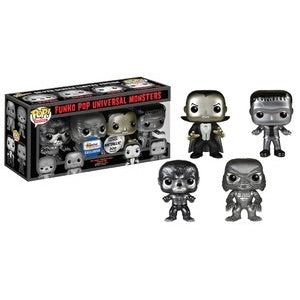 Universal Monsters 4 Pack (Metallic) - Gemini Exclusive - Funko Pop Vinyl Figures