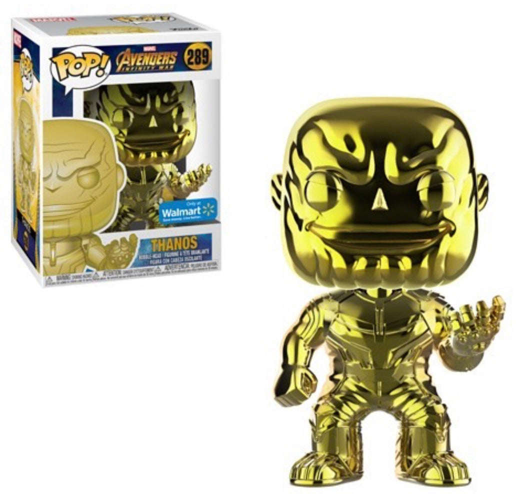 Chrome Thanos (Yellow) - Wal-Mart Exclusive - Funko Pop! Vinyl Figure - NOVEMBER