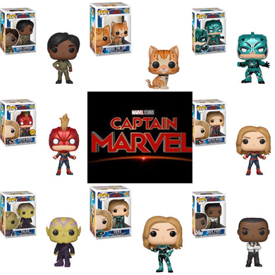 Set of 8 with Chase - Captain Marvel - Funko Pop! Vinyl Figure - JANUARY