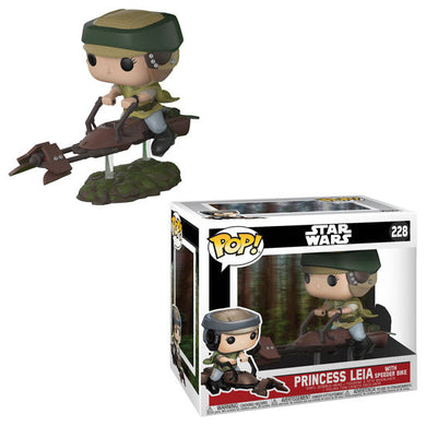 Princess Leia on Speeder Bike - Star Wars - Funko Pop Deluxe