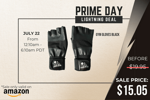 gym gloves prime day lightning deal