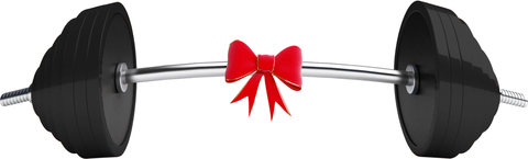 Barbell with ribbon