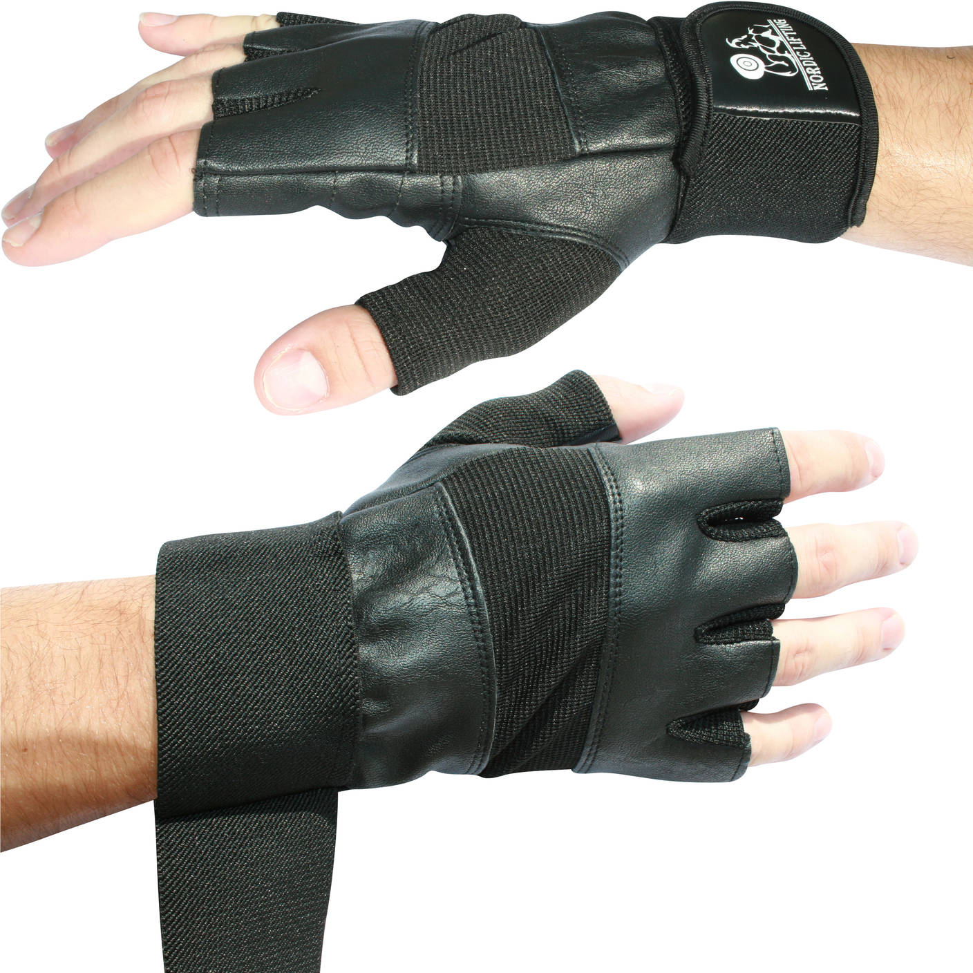 Black Weightlifting Gloves