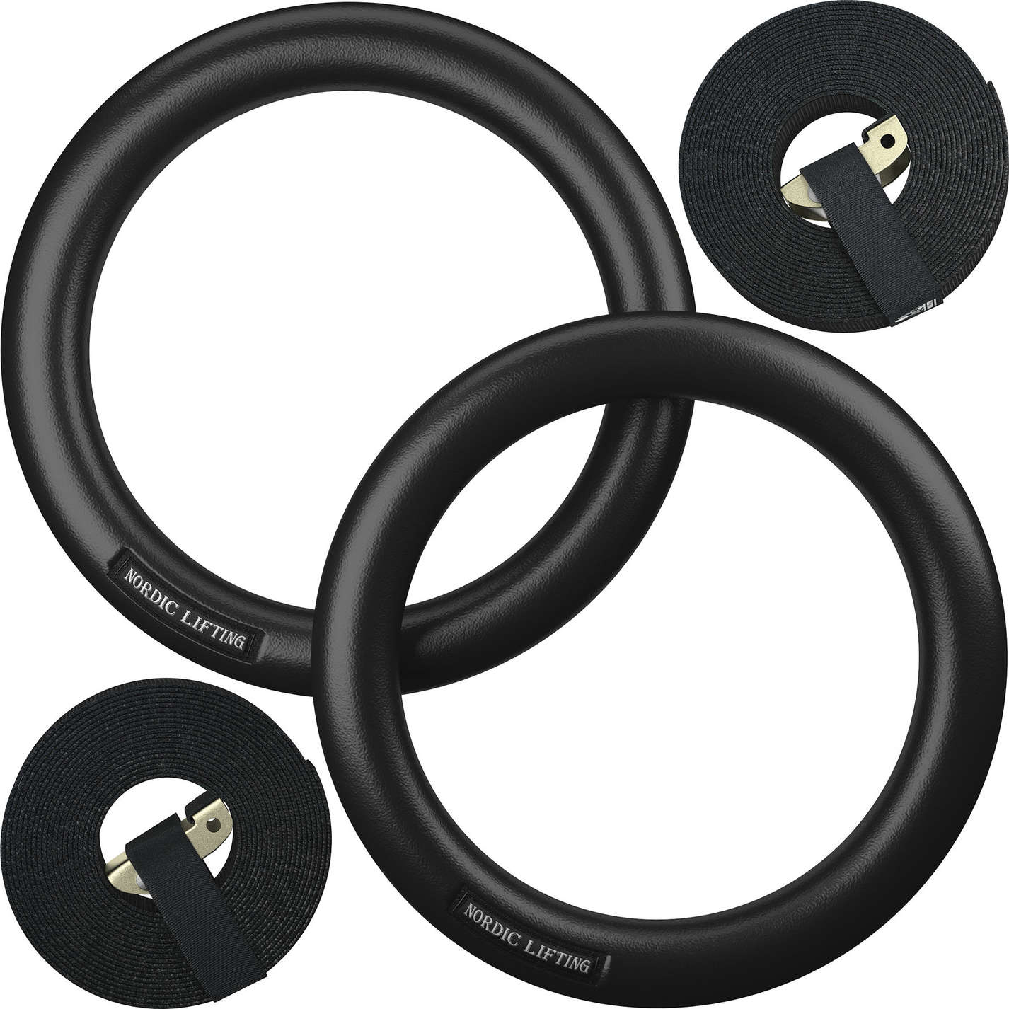 Black Gymnastic Rings Set